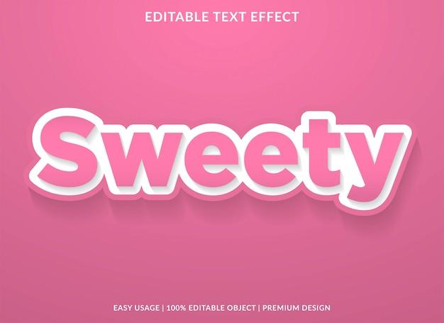 Słodki efekt tekstu z odważnym stylem