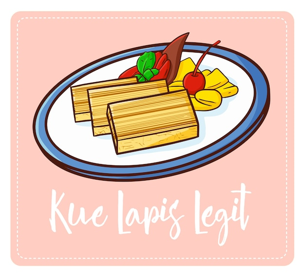 """Słodki i pyszny """"kue lapis legit"""", tradycyjne ciasto z indonezji. tak znana w indonezji i tak słodka."""