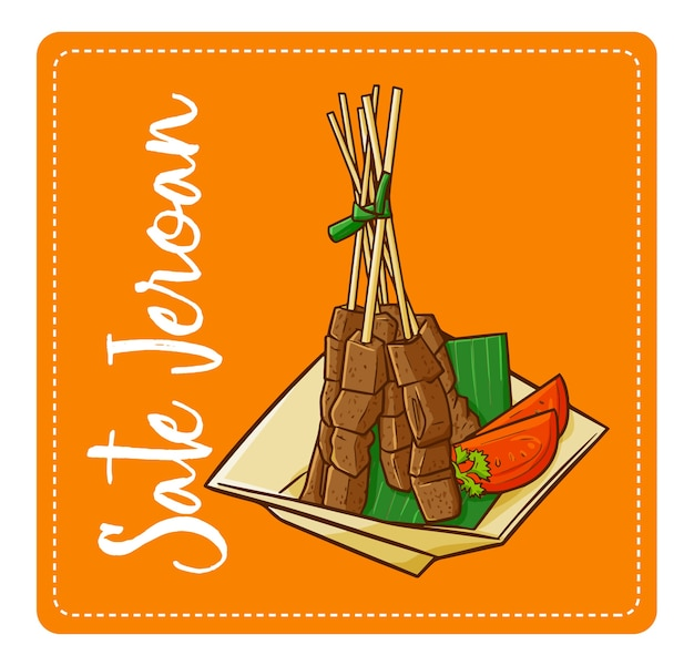 """Słodki i pyszny """"sate jeroan"""", tradycyjna kuchnia z zachodniej jawy - indonezji. piękna prezentacja i pyszna."""