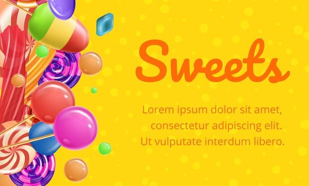 Słodki inny typ na żółtym tle i tekście