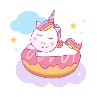 Słodki jednorożec śpi