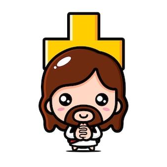 Słodki jezus chrystus i krzyż