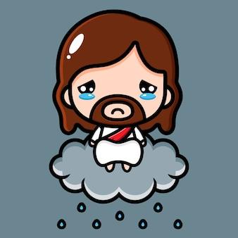 Słodki jezus chrystus jest smutny