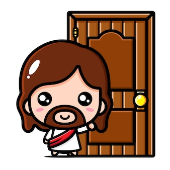 Słodki jezus chrystus puka do drzwi