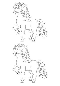 Słodki koń zwierzęta gospodarskie kolorowanka dla dzieci