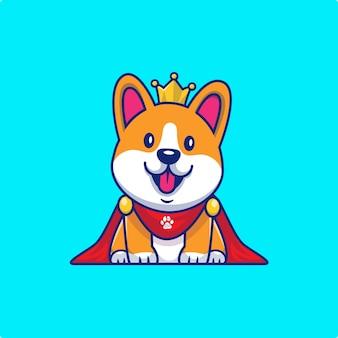 Słodki król corgi