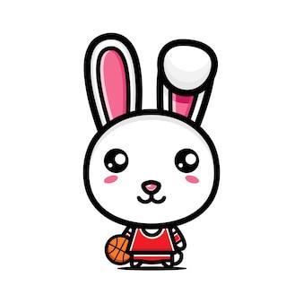 Słodki króliczek jest koszykarzem