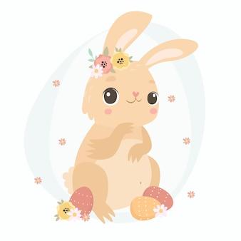 Słodki króliczek wielkanocny