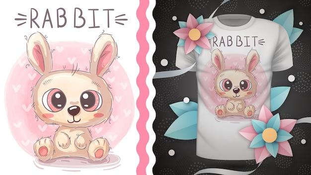 Słodki królik - pomysł na t-shirt z nadrukiem