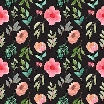 Słodki kwiatowy wzór akwarela