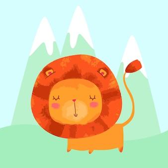 Słodki lew dziecka