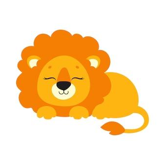 Słodki lew dzikie zwierzę