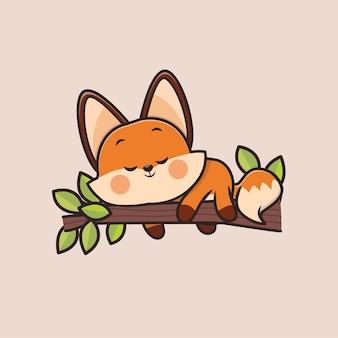 Słodki lis zwierzęcy