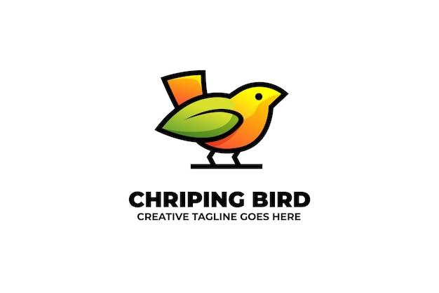 Słodki mały ptaszek logo zwierząt