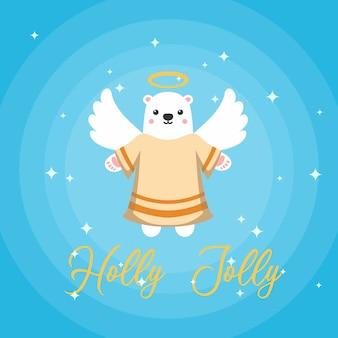 Słodki miś anioł