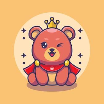 Słodki miś króla zabawny