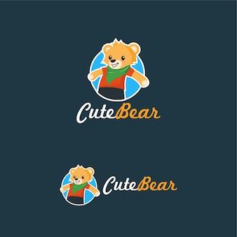 Słodki miś logo teddy doll