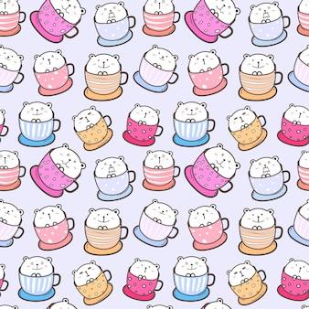 Słodki miś wzór