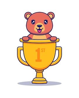 Słodki miś zdobył pierwszą nagrodę
