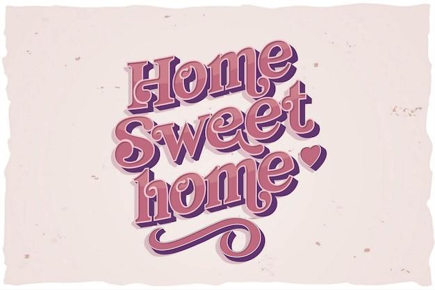 Słodki napis do domu