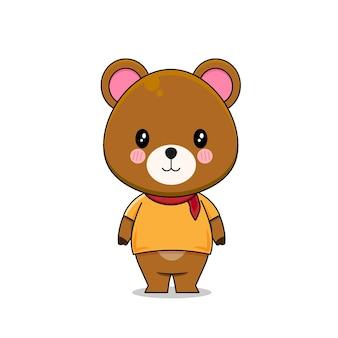 Słodki niedźwiedź brunatny