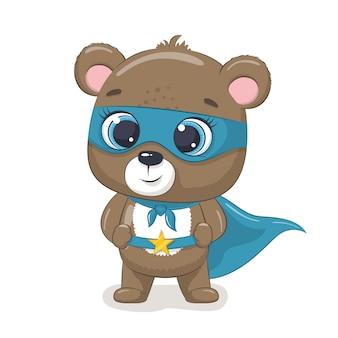 Słodki niedźwiedź superbohater.