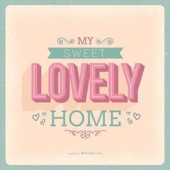 Słodki piękny dom