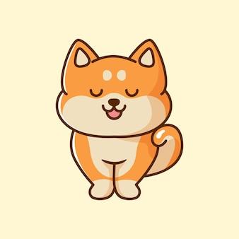 Słodki pies shiba