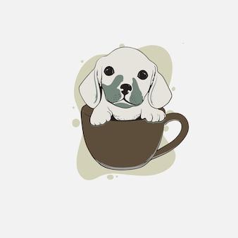 Słodki pies w gazie