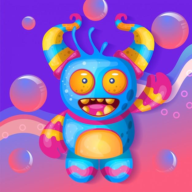 Słodki potwór ilustracja wektor
