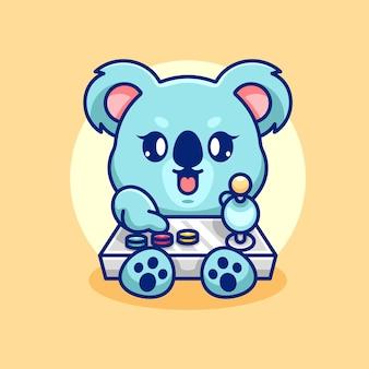 Słodki projekt kreskówek do gier koala