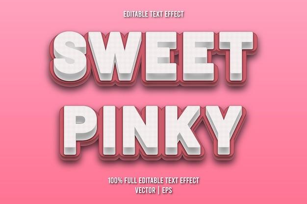 Słodki, różowy, edytowalny efekt tekstowy w stylu komiksowym