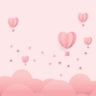 Słodki różowy, płaska konstrukcja happy valentines.