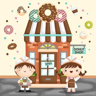 Słodki sklep z pączkami