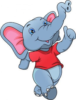 Słodki słoń kreskówka