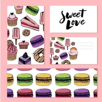 Słodki szablon miłości