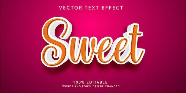 Słodki szablon stylu efektów tekstowych