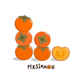 Słodki wektor persimmon