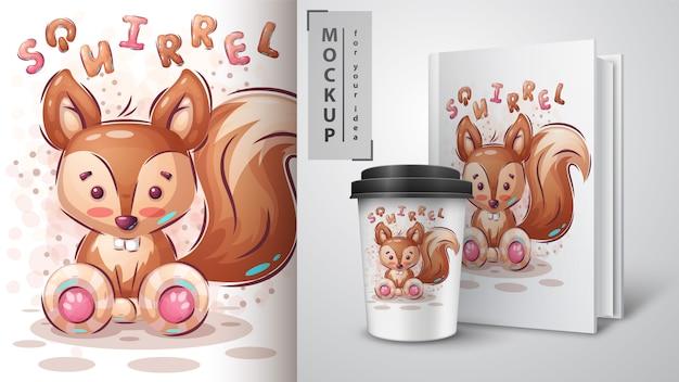 Słodki wiewiórczy merchandising