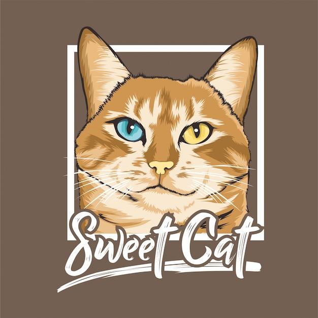 Słodki wzór kota