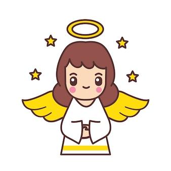 Słodkie anioły kreskówka