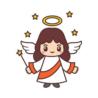 Słodkie anioły kreskówka.
