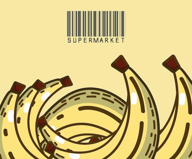 Słodkie banany - produkty super market