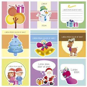 Słodkie boże narodzenie kolekcji kart
