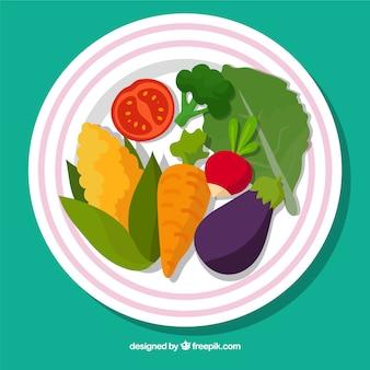 Słodkie danie wegetariańskie