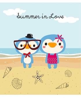 Słodkie doodle lato