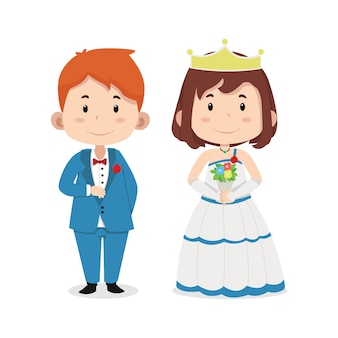 Słodkie dzieci postacie ślubne