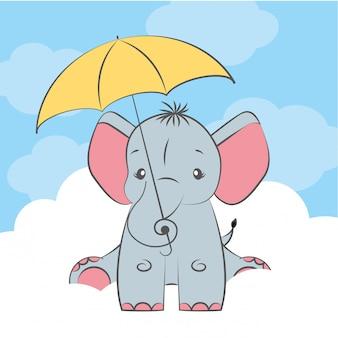 Słodkie dziecko słonia