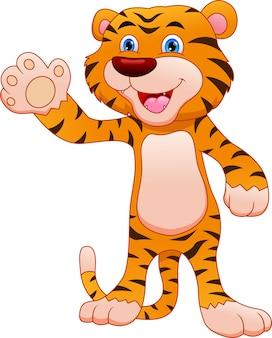 Słodkie dziecko tygrys kreskówka