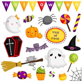 Słodkie elementy halloween